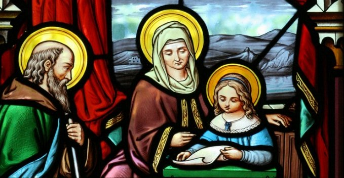 Sts. Anne & Joachim stained glass