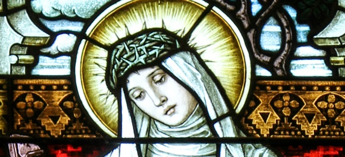 St. Catherine of Siena stained glass - Church of St. Rose, Springfield, KY