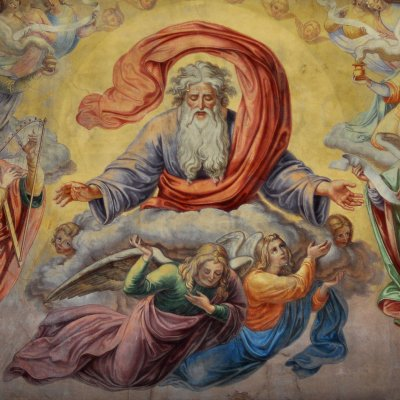 Detail of God the Father - Stiftskirche - Hechingen, Germany