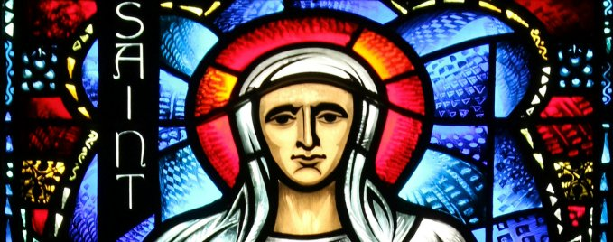 St. Monica stained glass - Grace Cathedral - San Francisco, CA