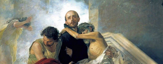 St. John of God saving the Sick from a Fire at the Royal Hospital by Manuel Gómez-Moreno González - Museo de Bellas Artes de Granada – Granada, Spain