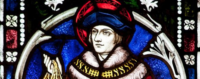 St. Thomas More stained glass - Harvington Hall - Harvington, Kidderminster, England