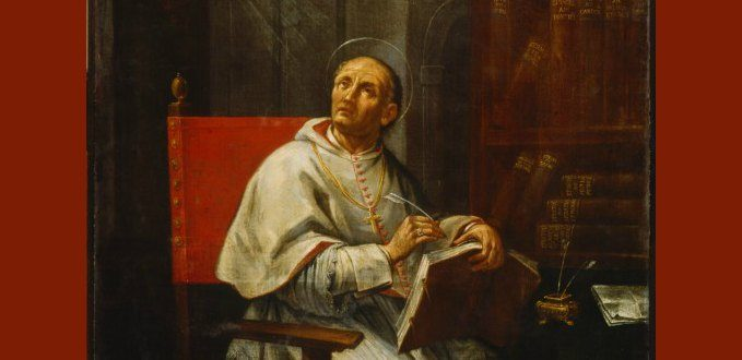 St. Peter Damian portrait by Andrea Barbiani - Biblioteca Classense - Ravenna, Italy