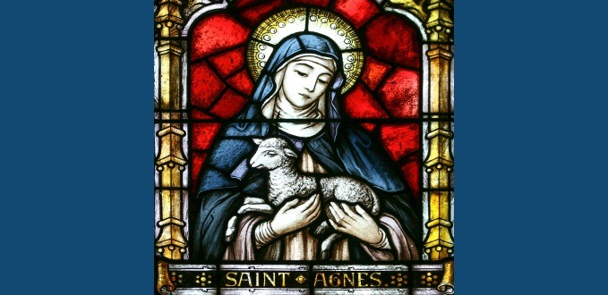 St. Agnes stained glass - Our Lady of the Rosary Monastery, Buffalo, NY