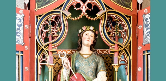 St. Agatha statue – Grunern, Germany