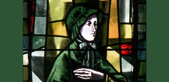 St. Elizabeth Ann Seton stained glass - Cathedral of Mary Our Queen – Baltimore, MD