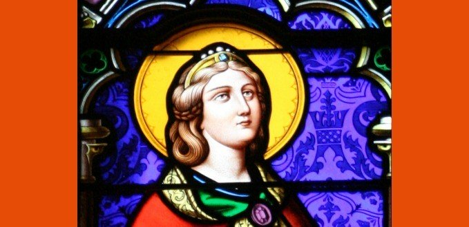 St. Philomena stained glass - Basilica of the Sacred Heart - South Bend, IN