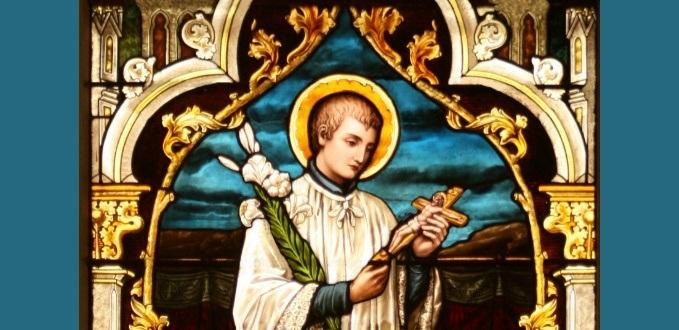 St. Aloysius Gonzaga stained glass - Holy Cross Catholic Church - Marine City, MI