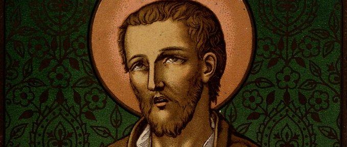 St. Benedict Joseph Labre color lithograph