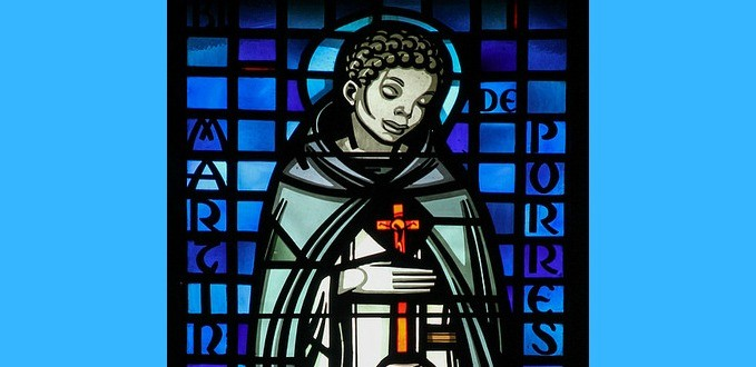 St. Martin de Porres stained glass - Baltimore Cathedral - Baltimore, MD