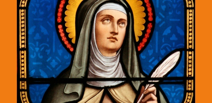 St. Teresa of Avila stained glass - St. Mary's - Gloucester, NJ